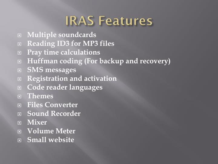 IRAS Features