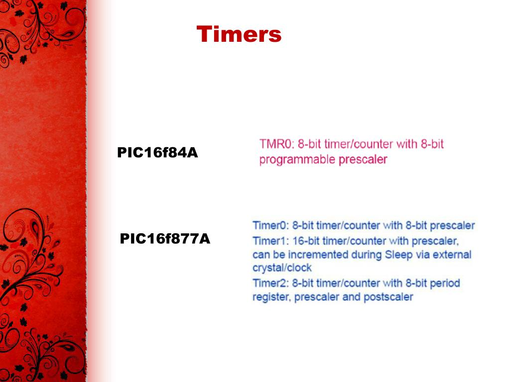 Timers In Pic16f877a