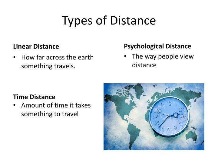 Types of Distance