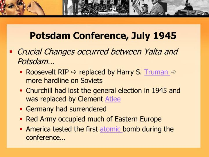 a comparison between the yalta and potsdam conferences