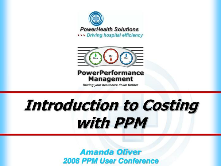 introduction to costing with ppm n.