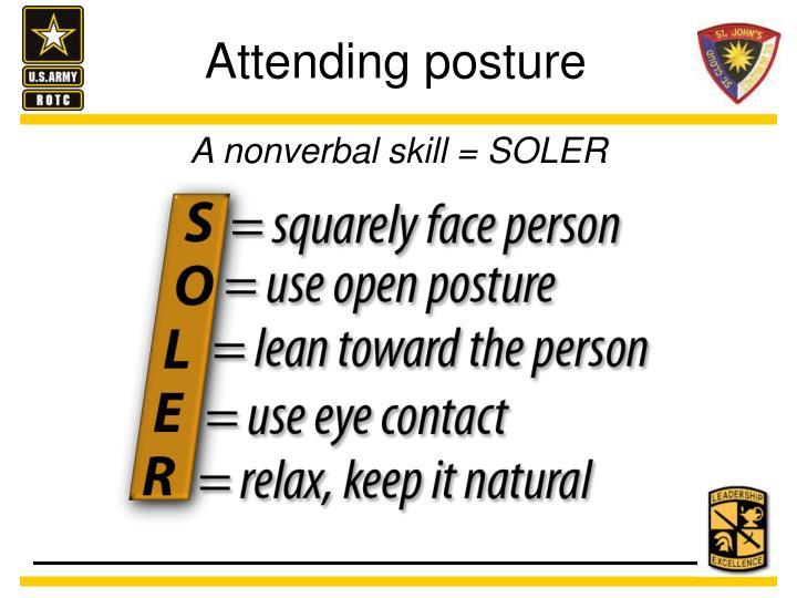 Attending posture