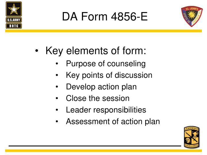 DA Form 4856-E