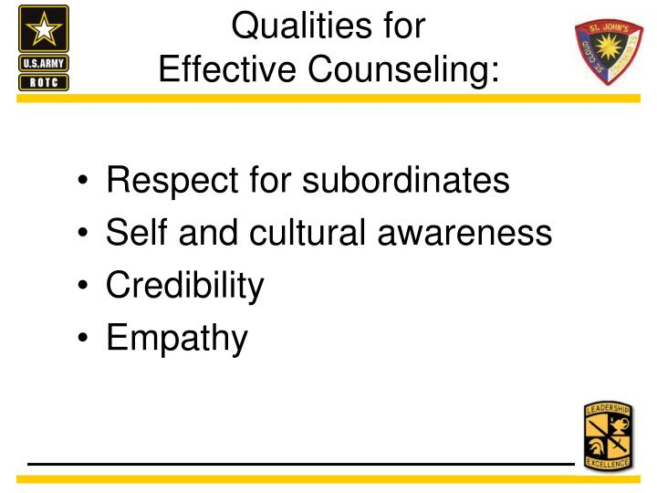Qualities for