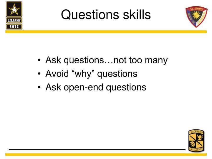 Questions skills