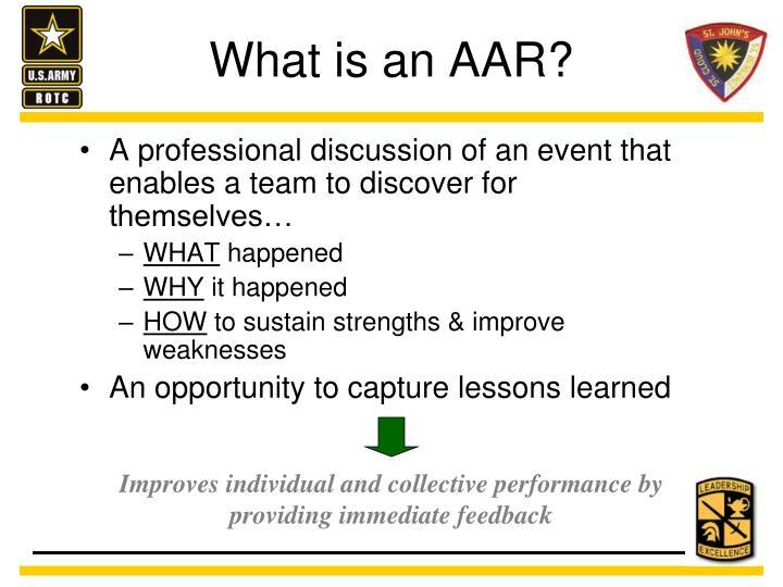 What is an AAR?