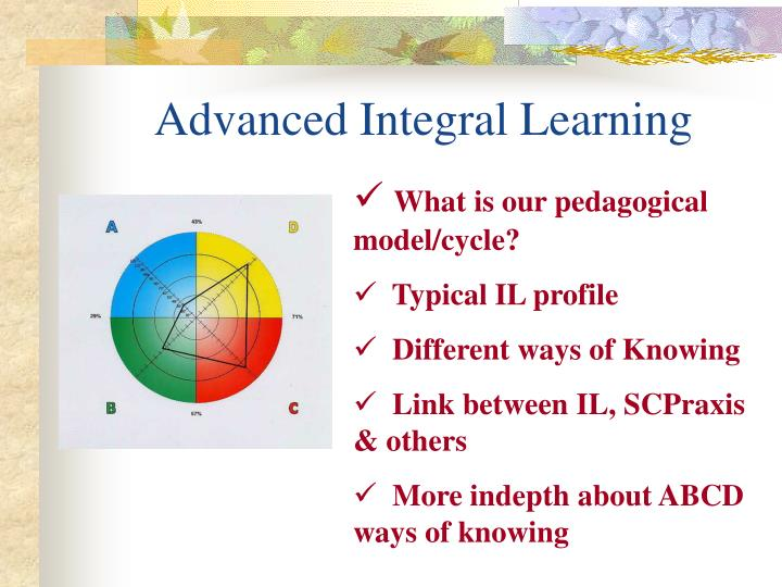 Advanced integral learning