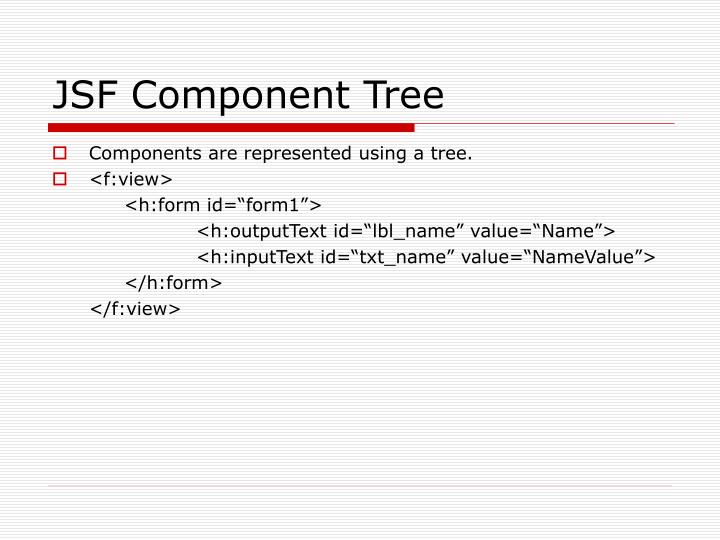JSF Component Tree