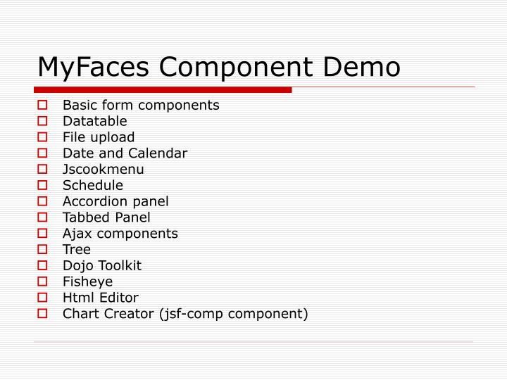 MyFaces Component Demo