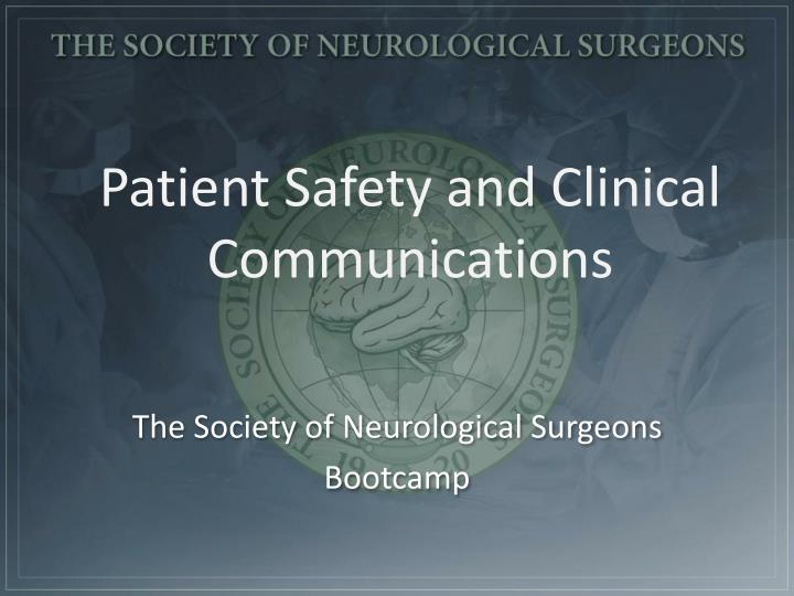 patient safety and clinical communications n.