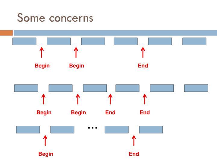 Some concerns