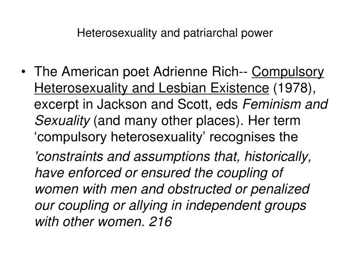 Heterosexuality and patriarchal power