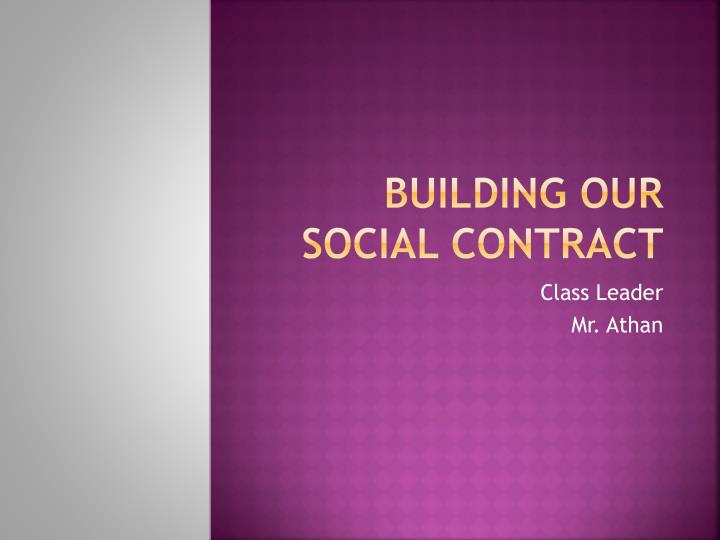 building our social contract n.