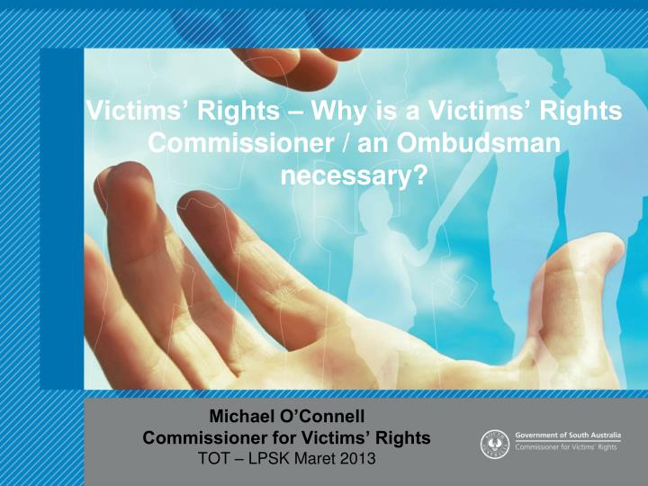 victims rights why is a victims rights commissioner an ombudsman necessary n.