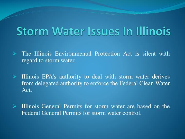 storm water issues in illinois n.