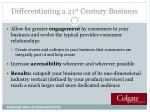 differentiating a 21 st century business