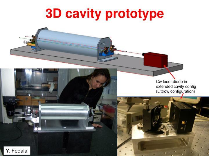 3D cavity prototype