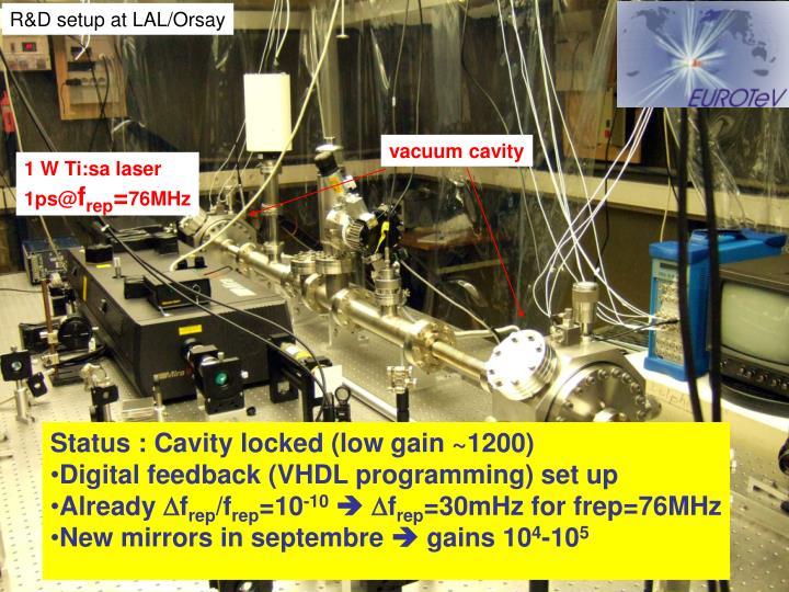 R&D setup at LAL/Orsay