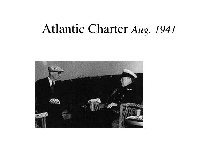 Atlantic charter aug 1941