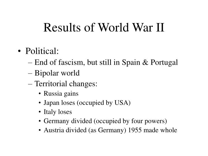 Results of World War II