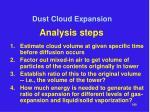 dust cloud expansion23