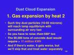 dust cloud expansion29