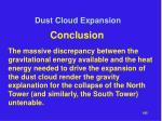 dust cloud expansion35