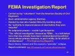fema investigation report