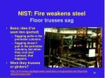 nist fire weakens steel3