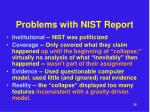 problems with nist report