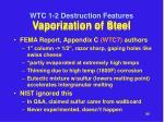 vaporization of steel
