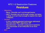 wtc 1 2 destruction features residues1