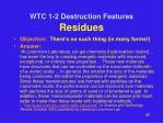 wtc 1 2 destruction features residues7