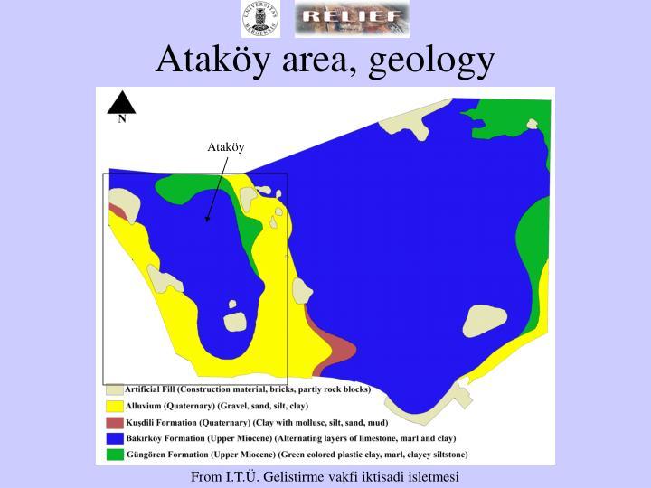Ataköy area, geology