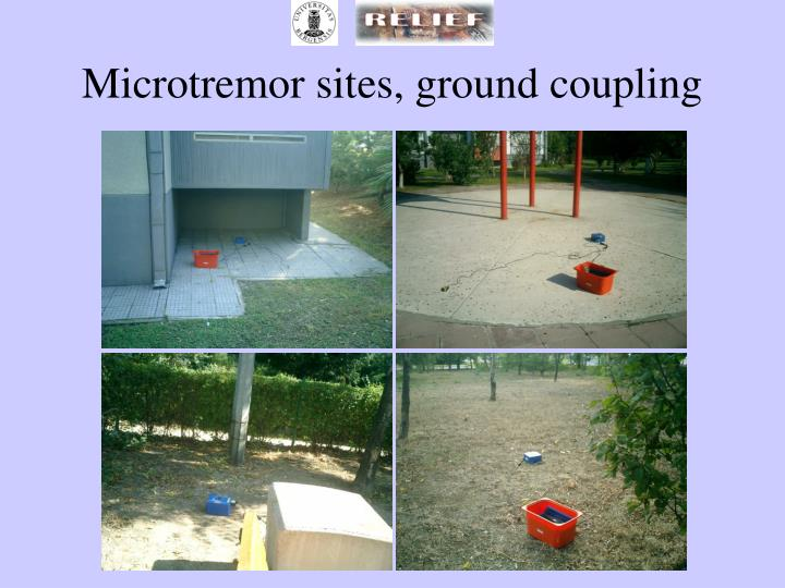 Microtremor sites, ground coupling