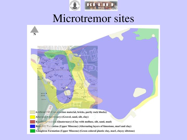 Microtremor sites