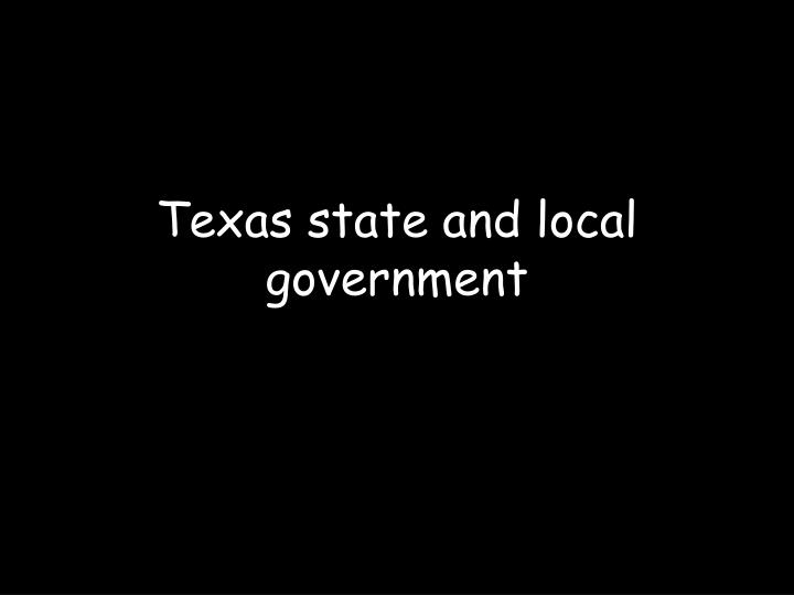texas state and local government n.