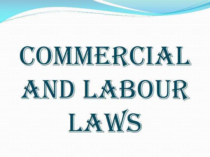 commercial and labour laws n.