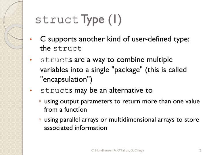Struct type 1
