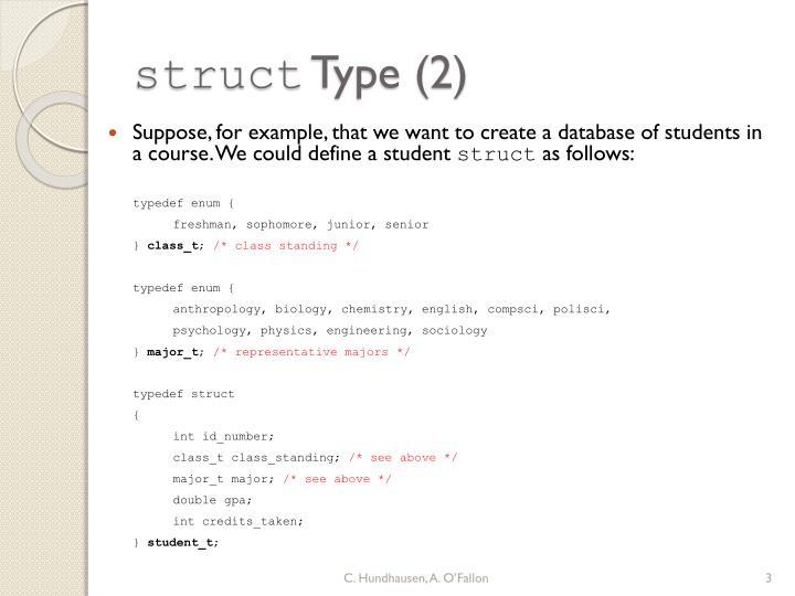 Struct type 2