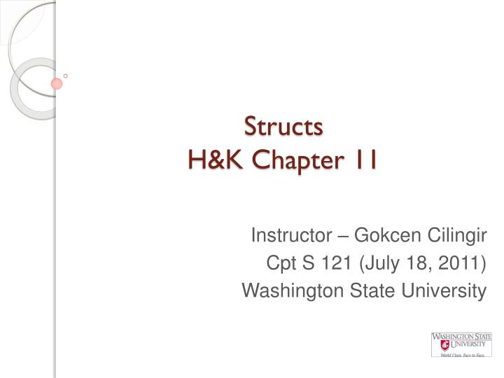 Structs h k chapter 11