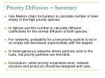 priority diffusion summary