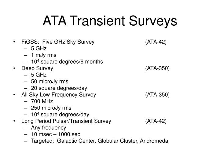 FiGSS:  Five GHz Sky Survey (ATA-42)