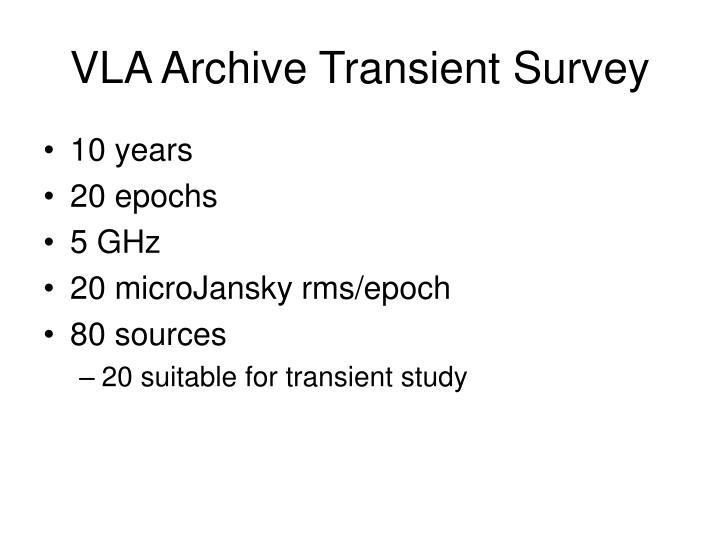VLA Archive Transient Survey
