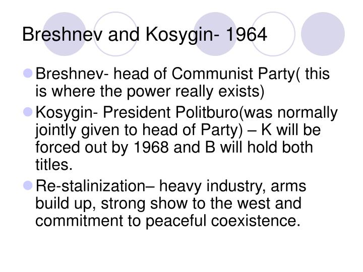 Breshnev and Kosygin- 1964