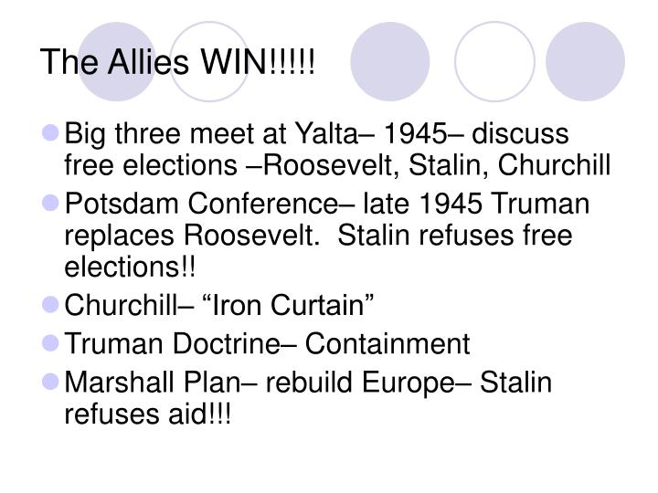 The allies win