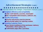 advertisement strategies cont1