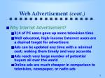 web advertisement cont