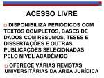 acesso livre