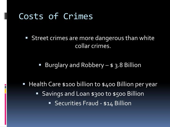 Costs of crimes